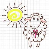 Cute sheep — Stock Vector