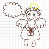 Cute angel — Stock Vector