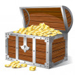 Stock Vector: Treasure chest