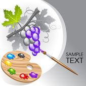 Coloring the grape — Stockvektor