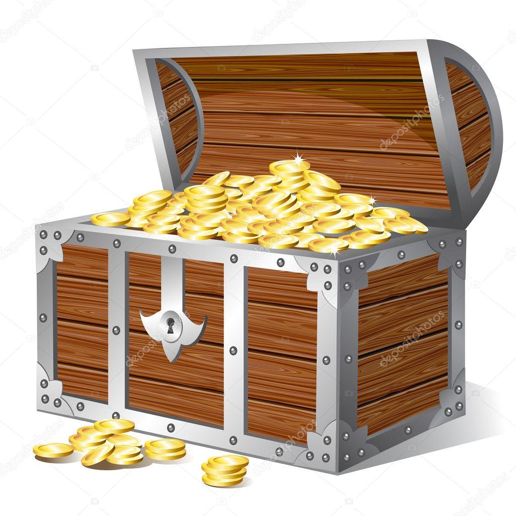 Treasure chest — Stock Vector © Elenita #9352926