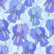 Purple Iris — Vector de stock #9766836