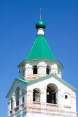 Orthodox white church — Stock Photo
