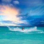 Man riding jet ski — Stock Photo