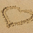 Royalty-Free Stock Photo: Heart drawn on sand