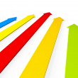 Upward colorful arrows rising — Stock Photo