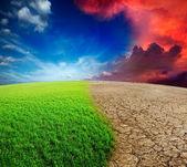 Verandering van het klimaat — Stockfoto