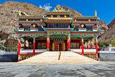 Monasterio budista en kaza, valle de spiti — Foto de Stock