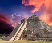 Mayan pyramid in Uxmal, Mexico — Stock Photo