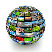 Picture globe — Stock Photo