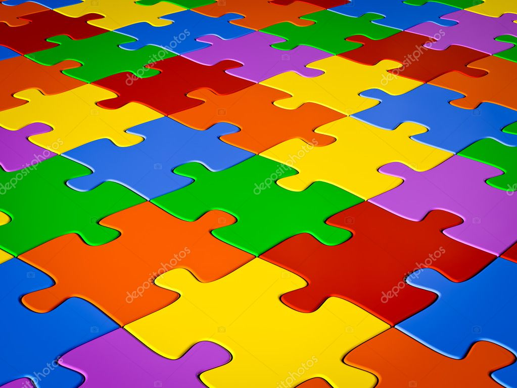 Jigsaw puzzle background — Stock Photo #9141047
