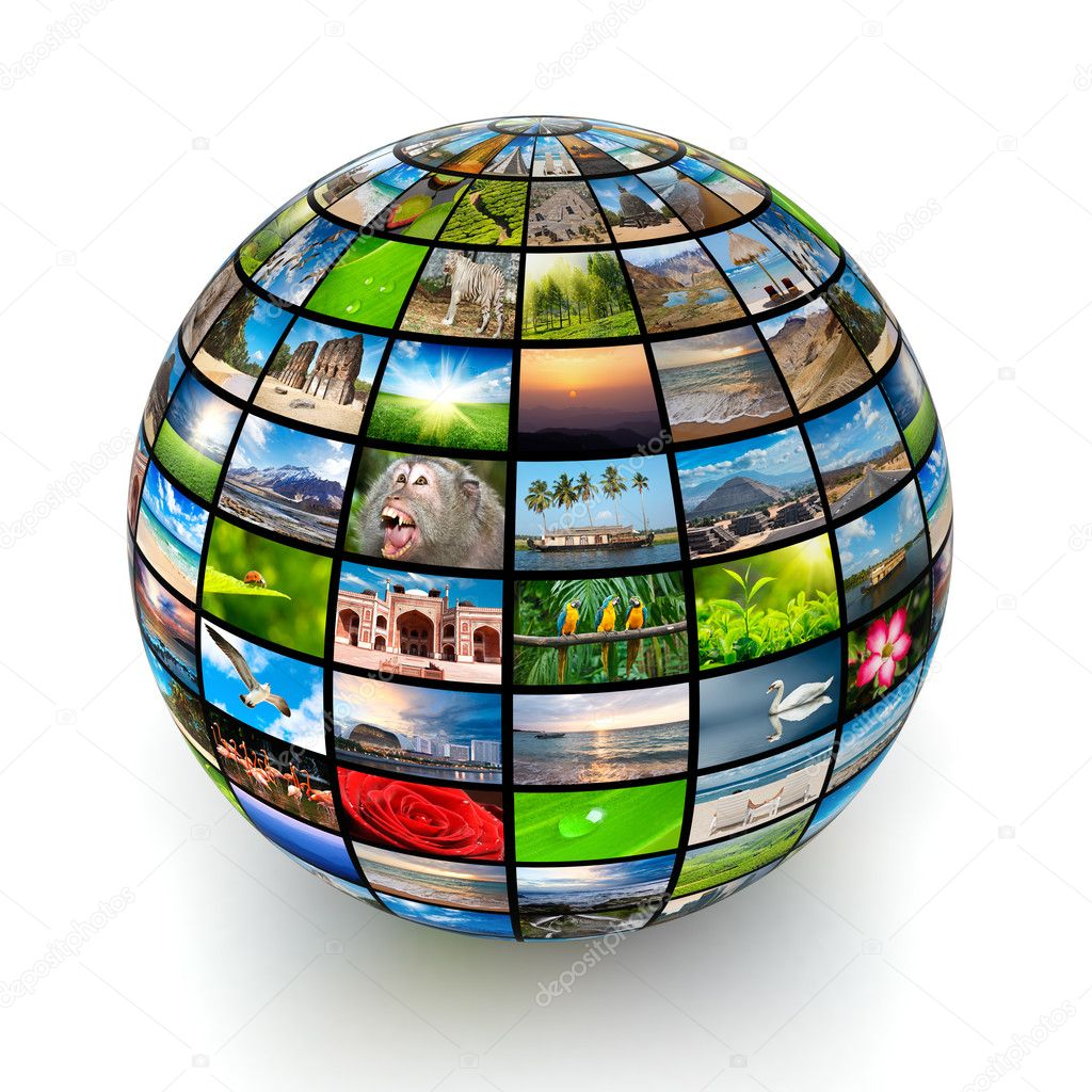 Picture globe isolated — Stock Photo #9141055