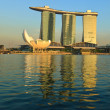 Stock Photo: Marina Bay Sands hotel and casino, Singapore