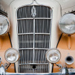 Stock Photo: CHENNAI - INDI- JULY 24: Car grill and headlamps of Plymouth P