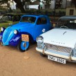 CHENNAI - INDIA - JULY 24: Fiat 500 and Triumph Herald 1966 (ret - Foto de Stock