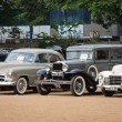 Постер, плакат: CHENNAI INDIA JULY 24: Vauxhall Velox 1951 Dodge 1931 and