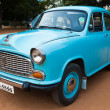 Stock Photo: CHENNAI - INDI- JULY 24: Ambassador (retro vintage car) on Her