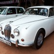 Stock Photo: CHENNAI - INDI- JULY 24: Jaguar (retro vintage car) on Heritag