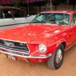 Постер, плакат: CHENNAI INDIA JULY 24: Ford Mustang retro vintage car on H