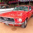 CHENNAI - INDIA - JULY 24: Ford Mustang (retro vintage car) on H - Stock Photo
