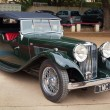 Постер, плакат: CHENNAI INDIA JULY 24: Jaguar SS retro vintage car on Heri