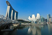 Marina Bay Sands hotel and casino and ArtScience Museum, Singapo — Stock Photo