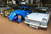 CHENNAI - INDIA - JULY 24: Fiat 500 and Triumph Herald 1966 (ret — Stock Photo