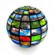 Picture globe — Stock Photo #9530091