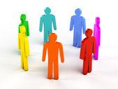 Diversity, teamwork, social network concept — Stock Photo