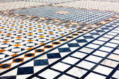 Marble ornamented pavement — Stock Photo