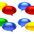 chat balloons — Stock Photo