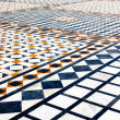 Marble ornamented pavement - Stock Photo