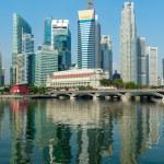 Singapore skyscrapers — Stock Photo