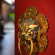 Doorknob of the Buddhist temple - Stok fotoğraf