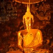 Sitting Buddha statue close up, Thailand — Stockfoto