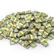 Foto Stock: Pile of dollar bundles
