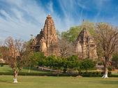 Lakshmana e matangeshwar templi, khajuraho — Foto Stock