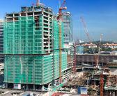 строительство современного здания — Стоковое фото