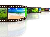 Película de la foto con la reflexión — Foto de Stock