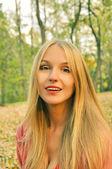 Sonbahar kız portre — Stok fotoğraf