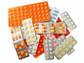 Multicolored medicine pills — Stock Photo
