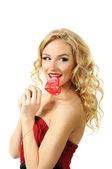 Sexy valentine girl — Stock Photo