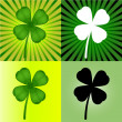Royalty-Free Stock Vector Image: Set of four stylized  clover leaves