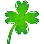Single clover leaf — Stock Vector