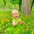 Outdoor portrait of a cute little girl — Stock Photo #9200930