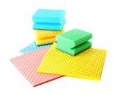Grupp av kök tvättsvamp — Stockfoto