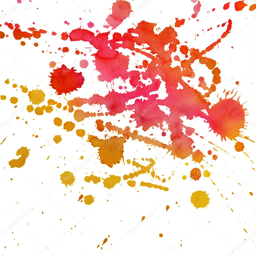 An abstract water-coloured painted blot  Stock Photo #10597144