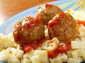 Spaghetti and meat balls — Stock Photo