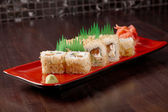 Japanese sushi traditional japanese food — Stock Photo