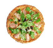 Pizza Atlantic salmon — Stock Photo